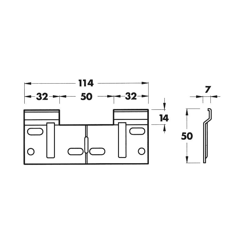 Platine pour support d'accrochage - 2