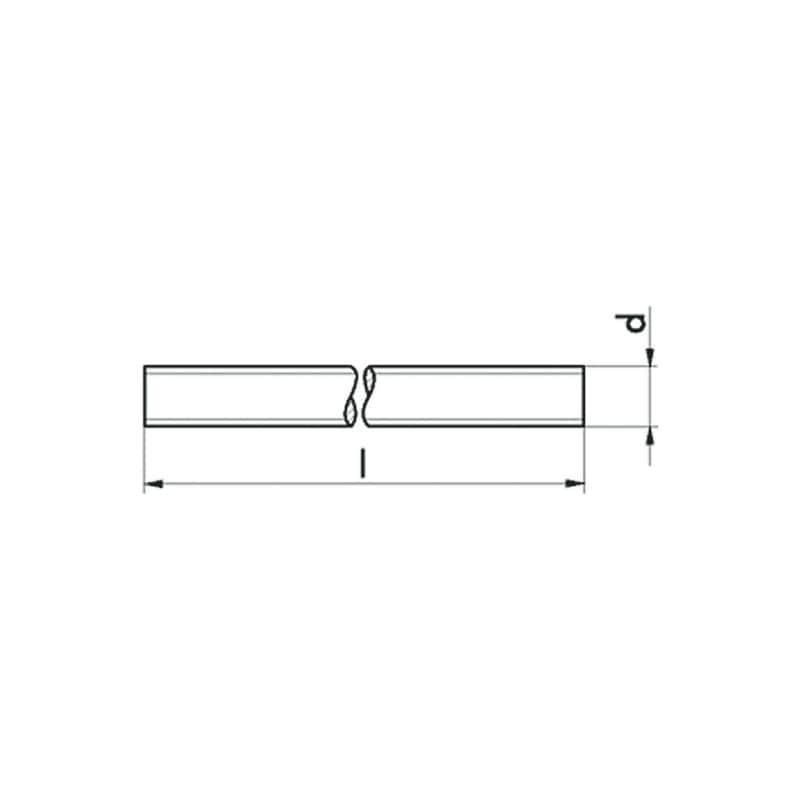 Tige filetée à pas fin, acier brut 6.8, DIN 976 - 2