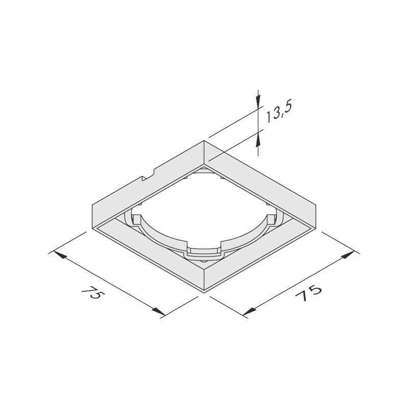Spot LED carré 75 x 75 mm IP44 encastré ou en applique - 4