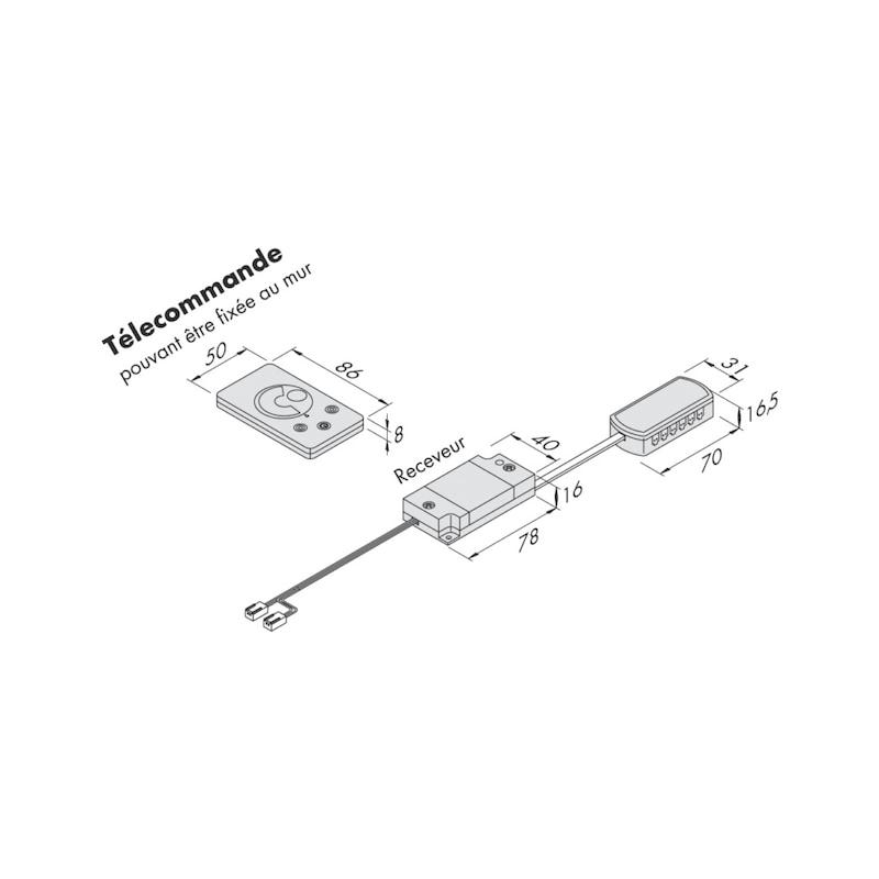 Interrupteur variateur pour luminaires LED 75 W - 2