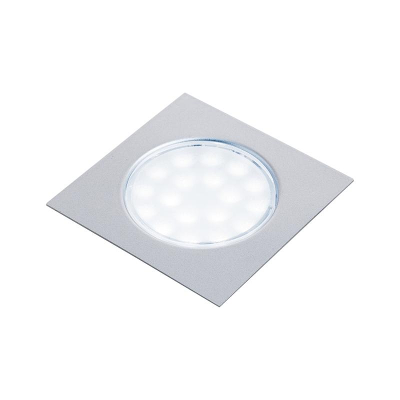 Spots LED carrés 63 x 63 mm encastrés - 1
