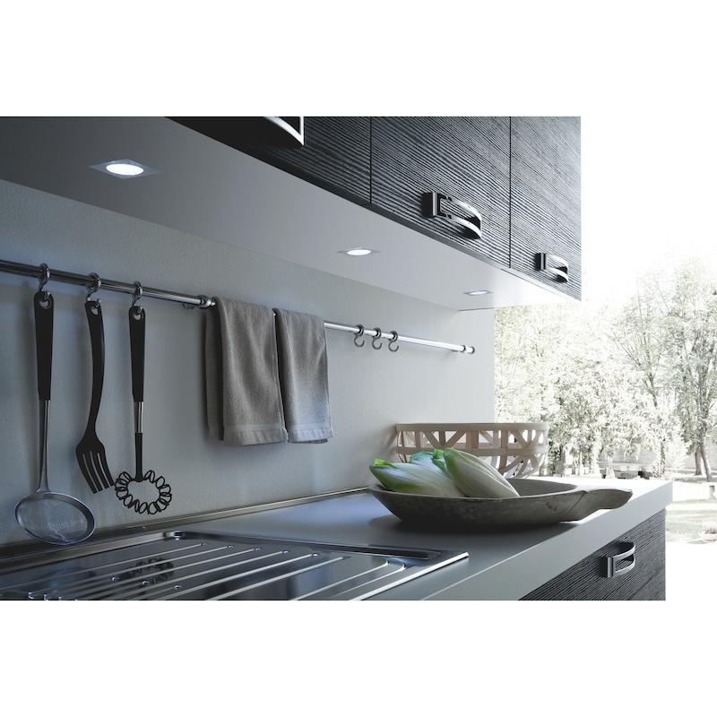 Spots LED carrés 63 x 63 mm encastrés - 3