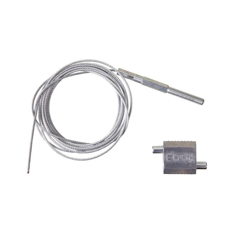 Kit attache Ø 1,5 et 2,5 mm + embout fileté M8 - KIT 3M CABLE 2.5 EMB.M8 1 ATT 1.52.5