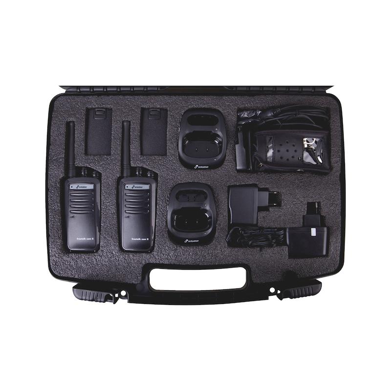 Coffret talkie walkie et accessoires FT COM 2 - 1