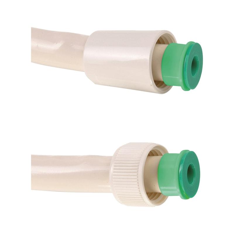 Kit de douche jetable blanc avec bague couleur - 3