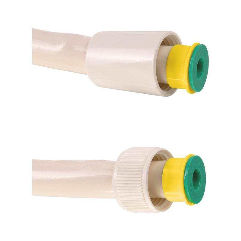 Kit de douche jetable blanc avec bague couleur - 4