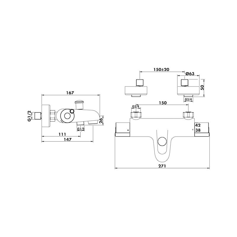 Mitigeurs thermostatiques douche et bain-douche CYBELE - 4