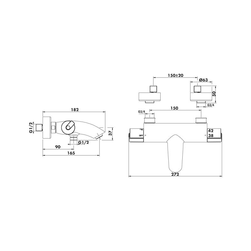 Mitigeurs thermostatiques Douche et Bain-douche CELENE - 2
