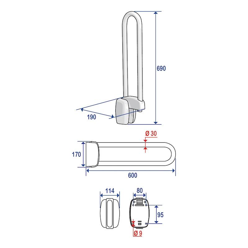 Barre d'appui inox blanc - 2