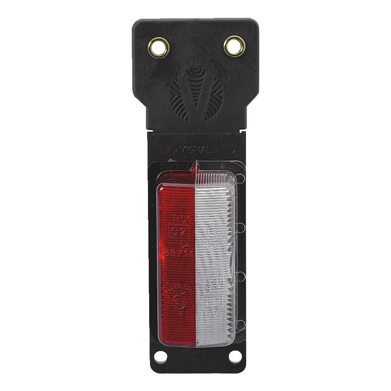 Cabochon de rechange pour feu de gabarit rouge/blanc - CABOCHON ROUGE/BLANC SEMELLE FLEXIBLE