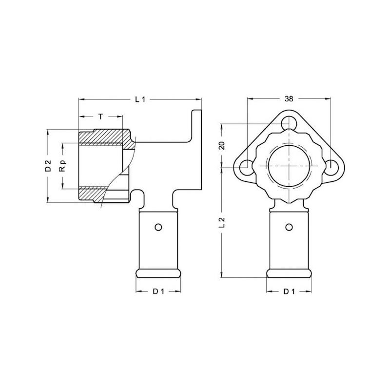 Culasse pour sanitaire multicouche en PVDF à sertir - 2