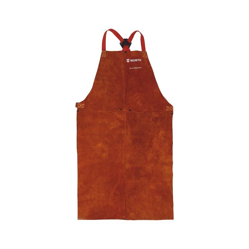Tablier de soudeur cuir marron - 1