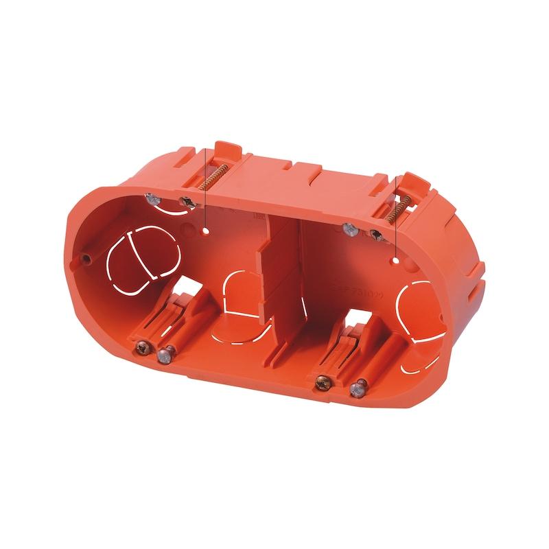 Boite pour appareillage double verticaux et horizontaux