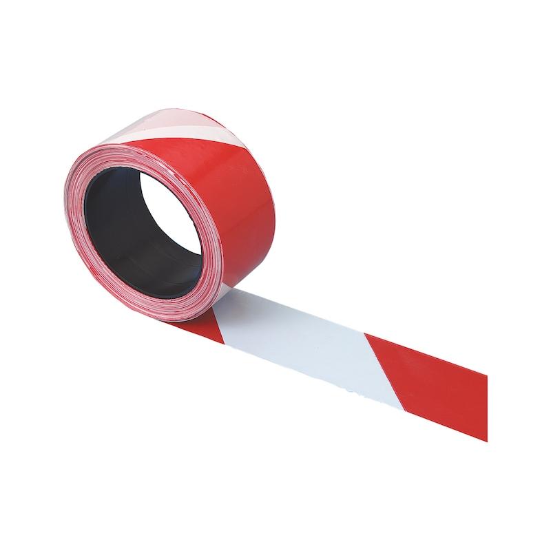 Ruban de signalisation diagonal - RUBAN DE SIGNALISATION ROUGE/BLANC