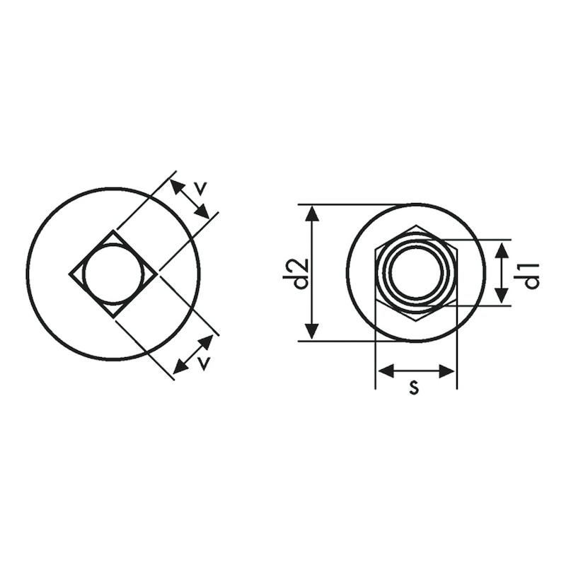 Boulon tête ronde bombée à collet carré TRCC - 2