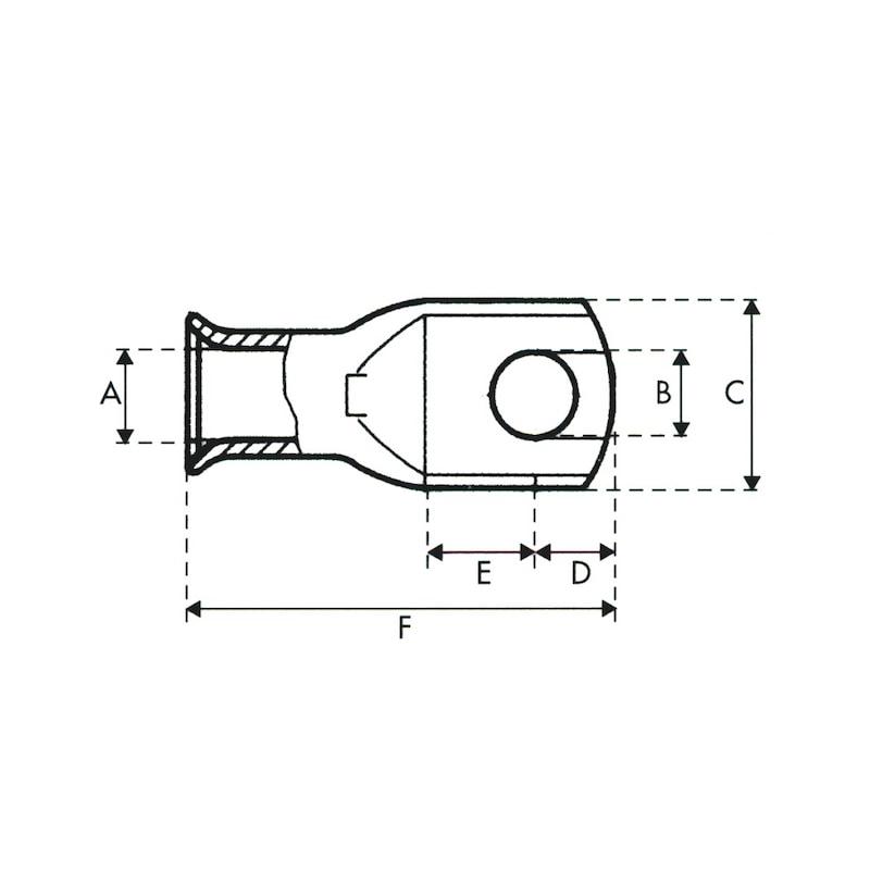 Cosse tubulaire cuivre W-CT - 2