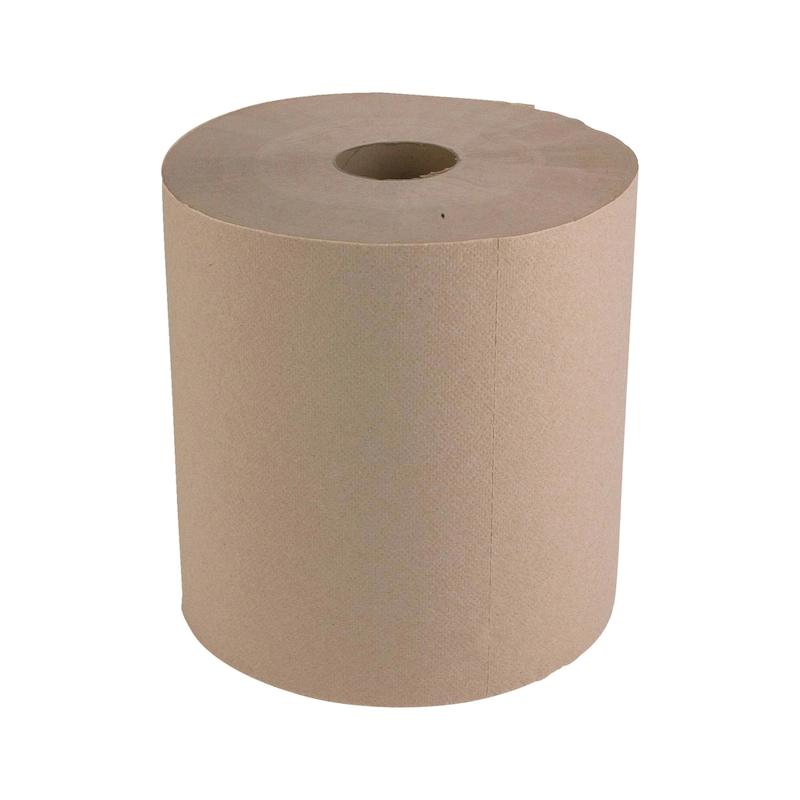 Bobine d'essuyage ouate recyclée Chamois Eco Natural - PAPIER NETTOYAGE-2PLIS-L200M-800FEUILLES