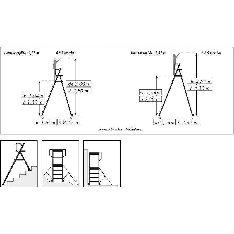 Plate-forme individuelle roulante PIR télescopique - 2