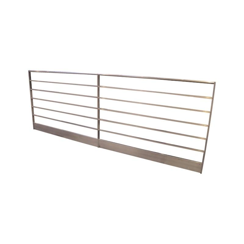 Barrière monobloc pour console d'échafaudage