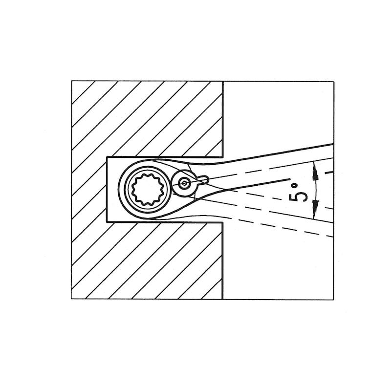 Clé mixte à cliquet, métrique avec inverseur - 3