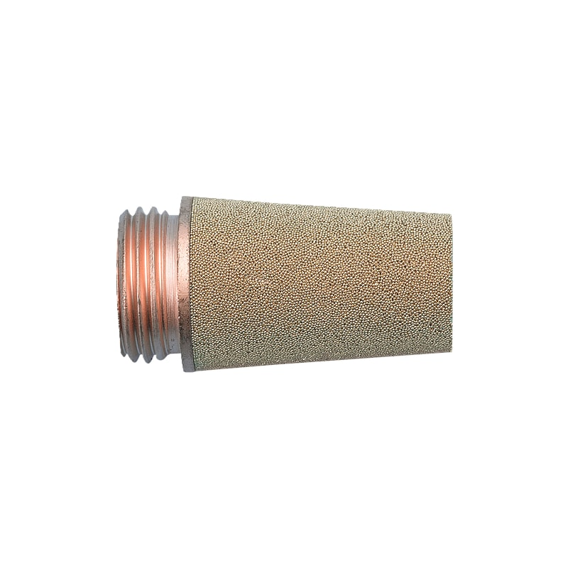Silencieux d'échappement mâle cylindrique en bronze fritté - 1