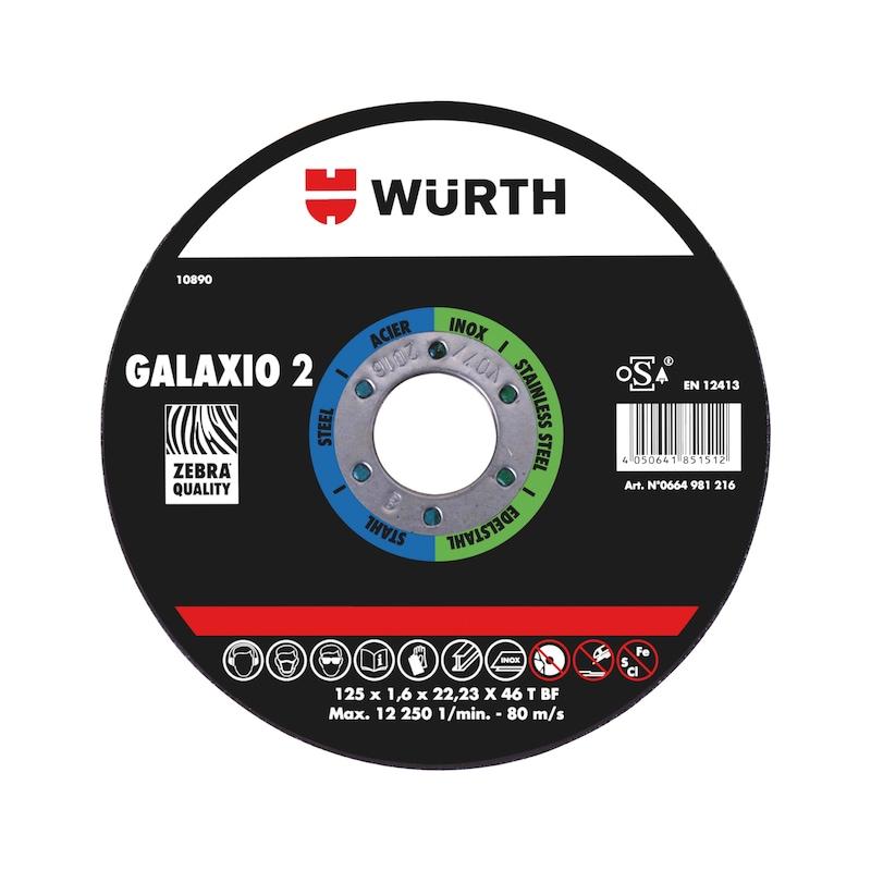 Disque à tronçonner ZEBRA GALAXIO 2 - DISQUE TRONCONNER SUPER 2 125X1,6
