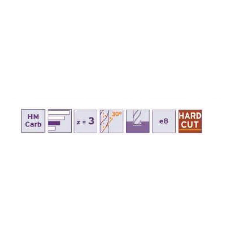 Fraise à rainurer cylindrique Hard Cut (PVD) - 2