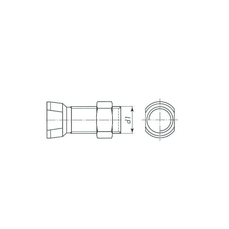 Boulon tête conique à méplat - 2