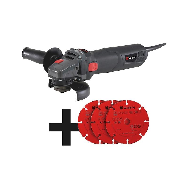 Winkelschleifer EWS 10-125 Compact mit Hartmetall Trennscheiben Set - MA-EL-SET-EWS10-HM-TRENNSCHEIBE