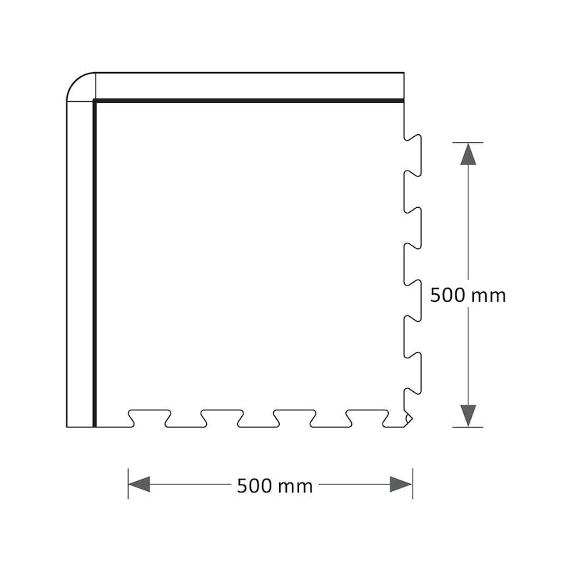 Anti-Ermüdungsmatte PVC Premium Fliese - 4