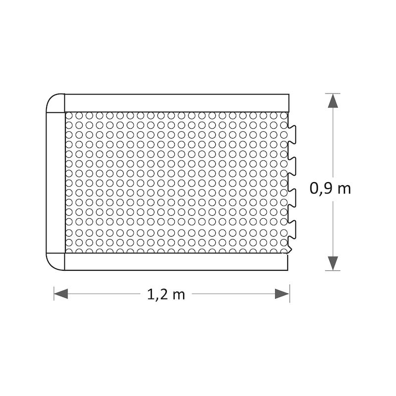 Anti-Ermüdungsmatte mit Noppen erweiterbar - 3