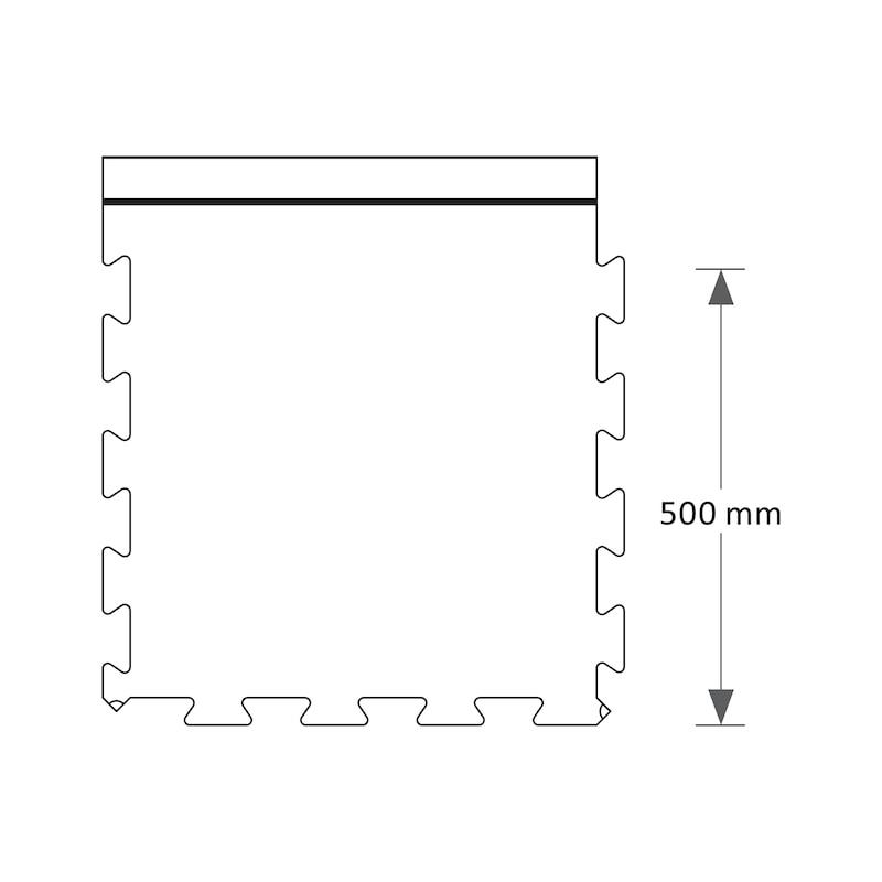 Anti-Ermüdungsmatte PVC Premium Fliese - 3