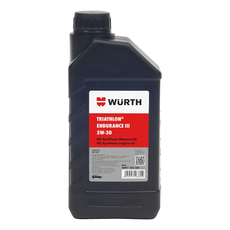 Engine oil TRIATHLON<SUP>®</SUP> Endurance III 5W-30 - ENGOIL-ENDURANCEIII-5W30-1LTR