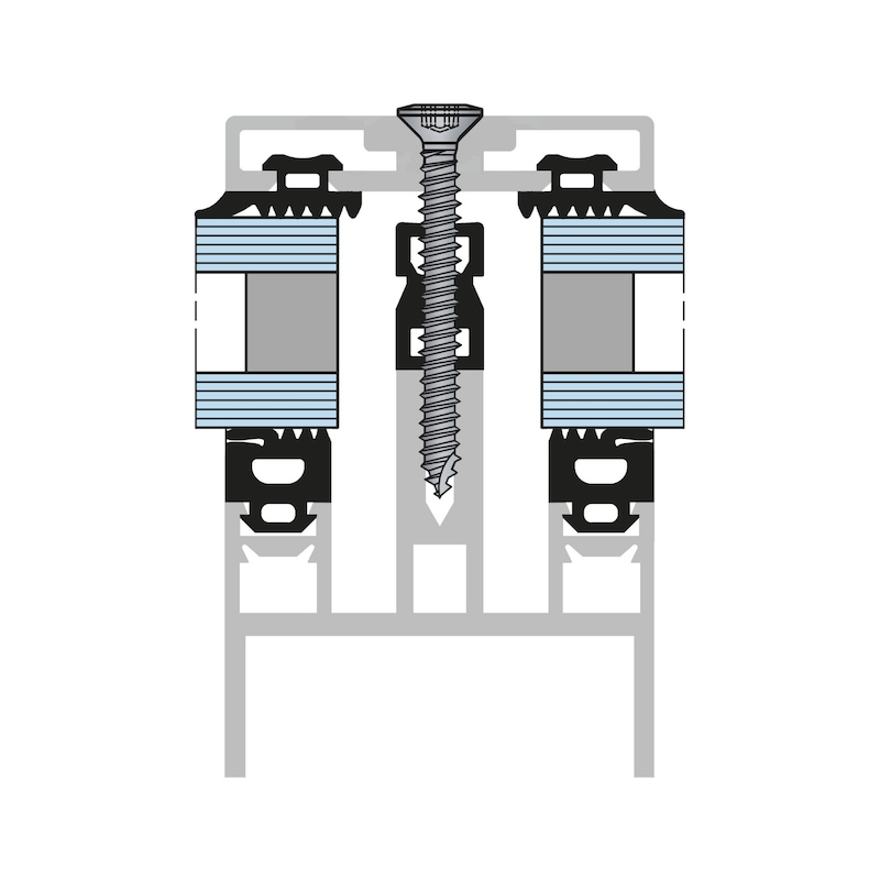 Linsensenk-Blechschraube Form C mit AW-Antrieb Gleitbeschichtet - 4