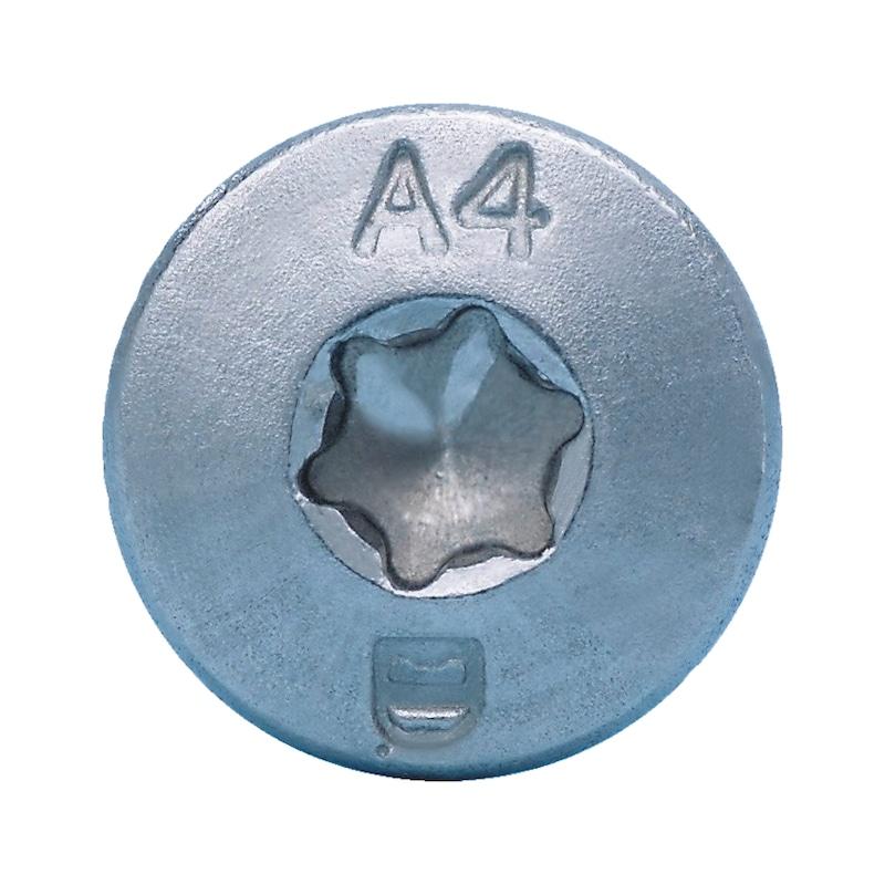 Linsensenk-Blechschraube Form C mit AW-Antrieb Gleitbeschichtet - 3