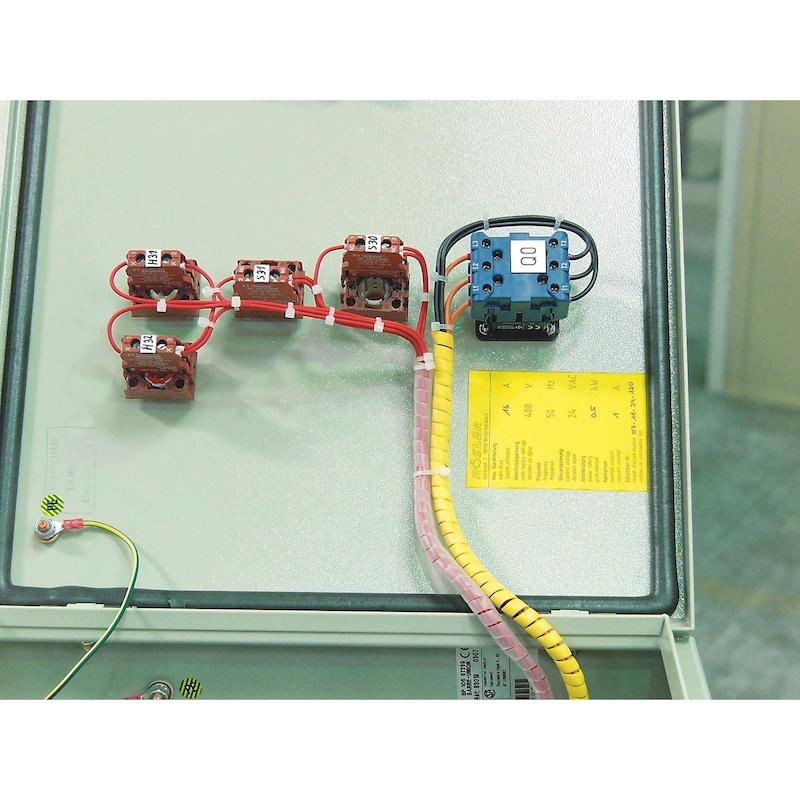 Collier attache-câble avec languette métallique - COLLIER-ATT-CABLE-NOIR-2,5X100