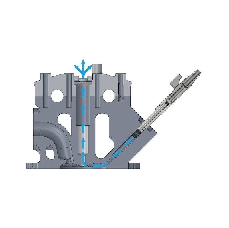 Adaptador de ar comprimido para rosca de vela com válvula de corte Universal - 2