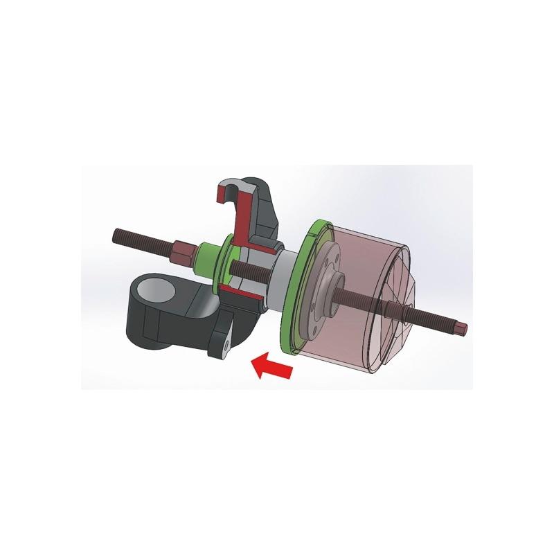 Kit d'outils de dépose de roulement de roue pour unités de moyeu de roulement compactes, mécanique Universel - 2