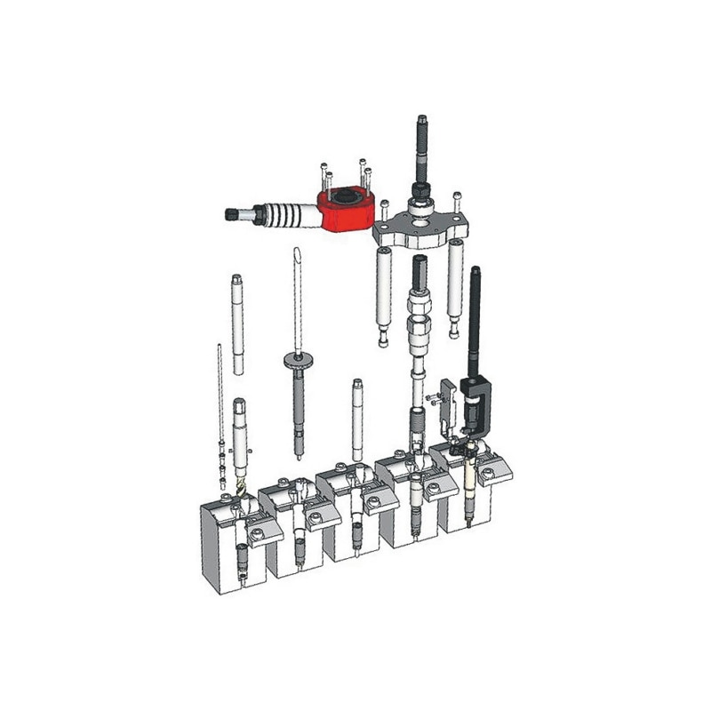 Injektor Demontage Werkzeug Satz für M9R 2,0 dCi Motoren - 3