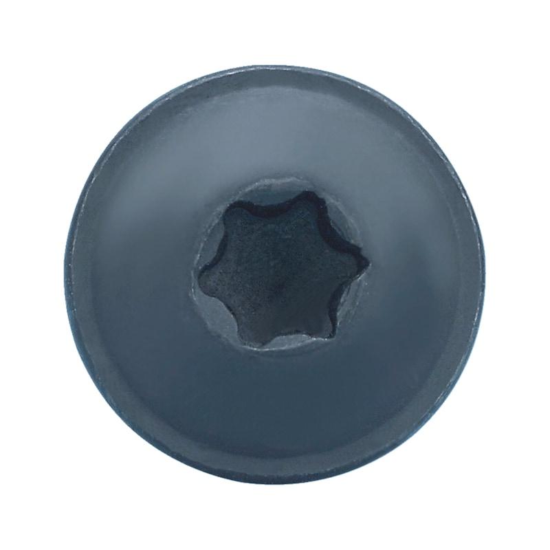 なべ頭タッピングネジ、フランジ付きC型 - トルクスタッピング 黒 4.2 X16