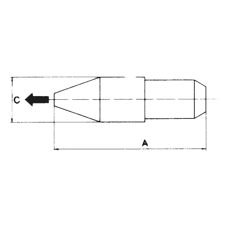 Gummimundstück - ZB-MUNDSTUECK-AUSBLASPIST-GUMMI-46,5MM