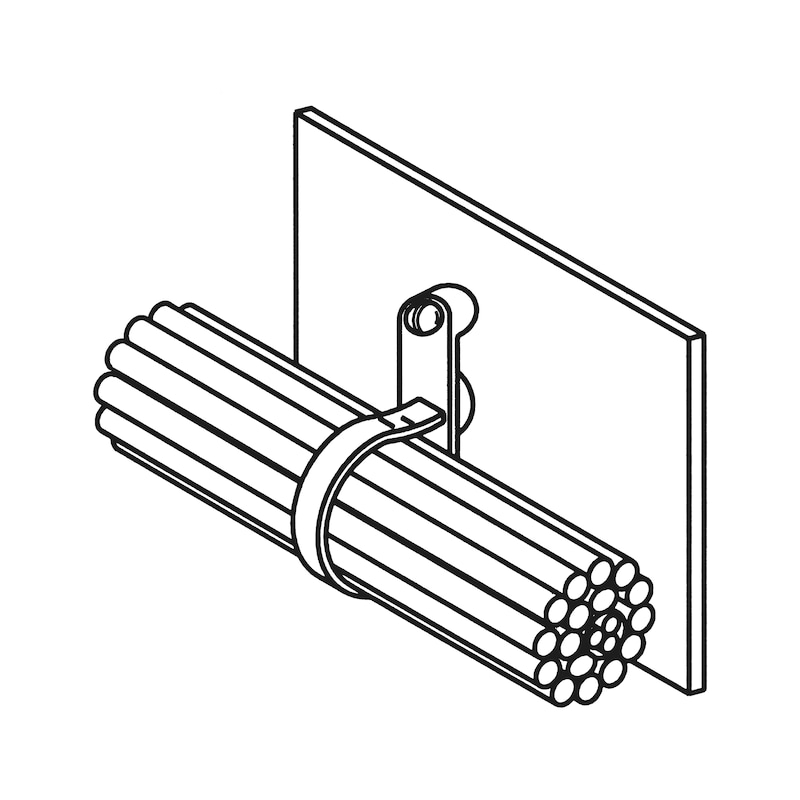 Spezialkabelband mit Metallzungenverschluss und Befestigungsöse - 2