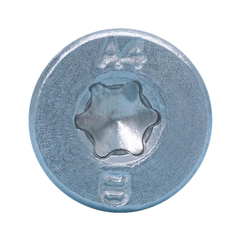 Zylinder-Blechschraube Form C mit AW-Antrieb, Gleitbeschichtung und Schabenut - 3