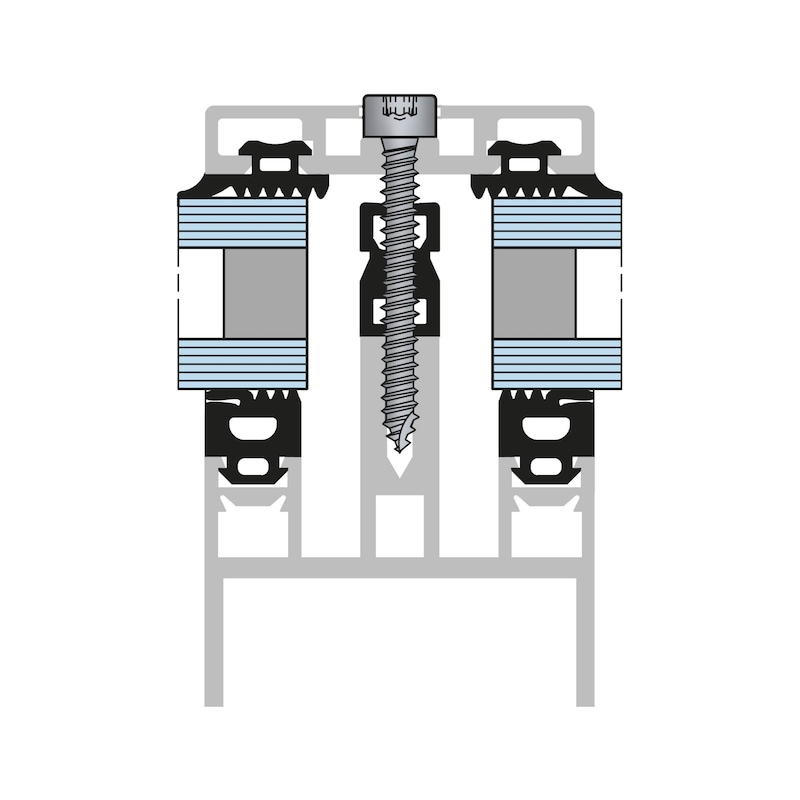 Zylinder-Blechschraube Form C mit AW-Antrieb, Gleitbeschichtung und Schabenut - 4
