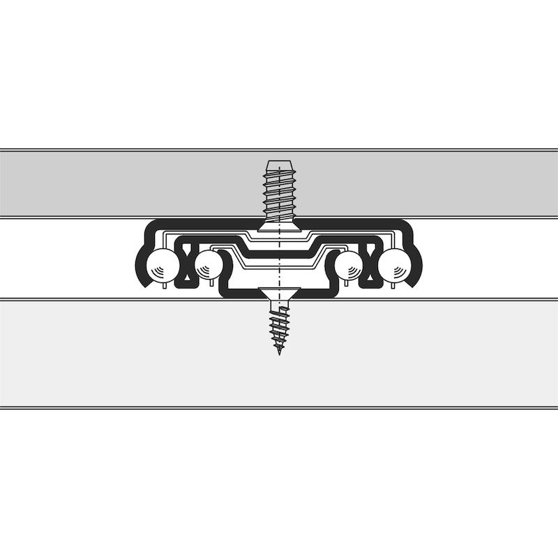 Kugelführung Vollauszug 100 kg - AUSZG-VA-SHR-100KG-500MM