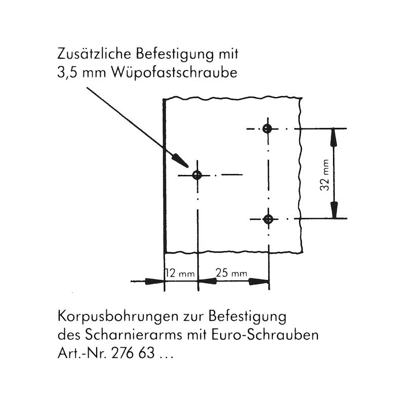 Objektscharnier Zwillingsanschlag - 4