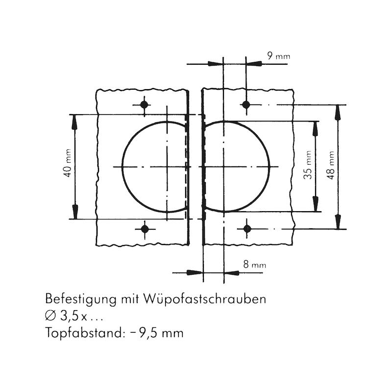 Objektscharnier Zwillingsanschlag - 3