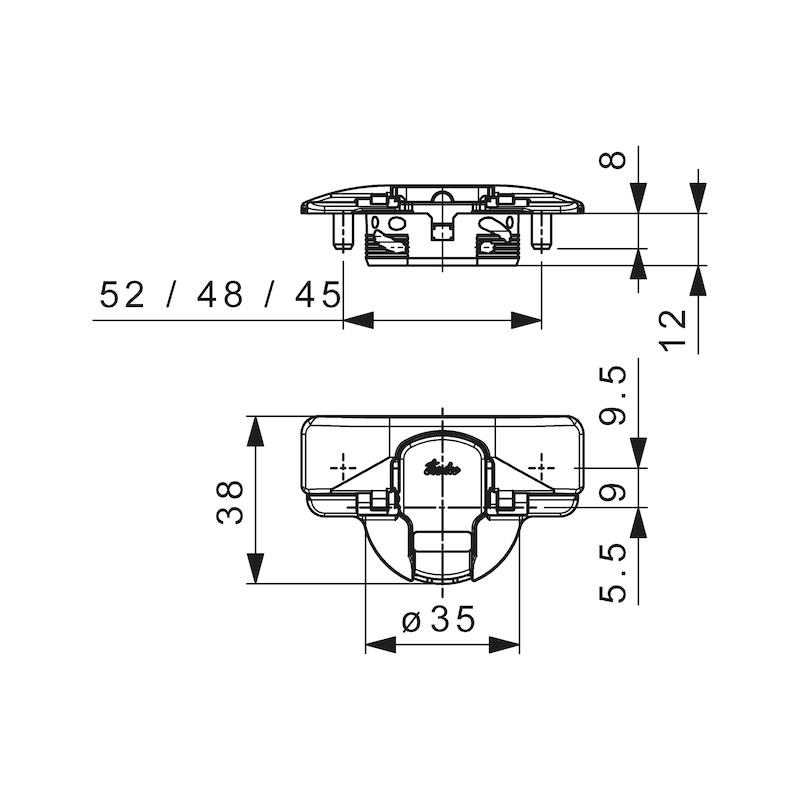 Stollenscharnier Nexis Impresso 95° - 7