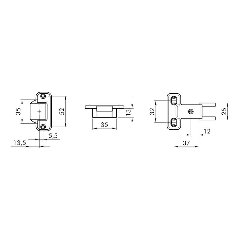 Objektscharnier OBS 8 Anschraubmontage - 2