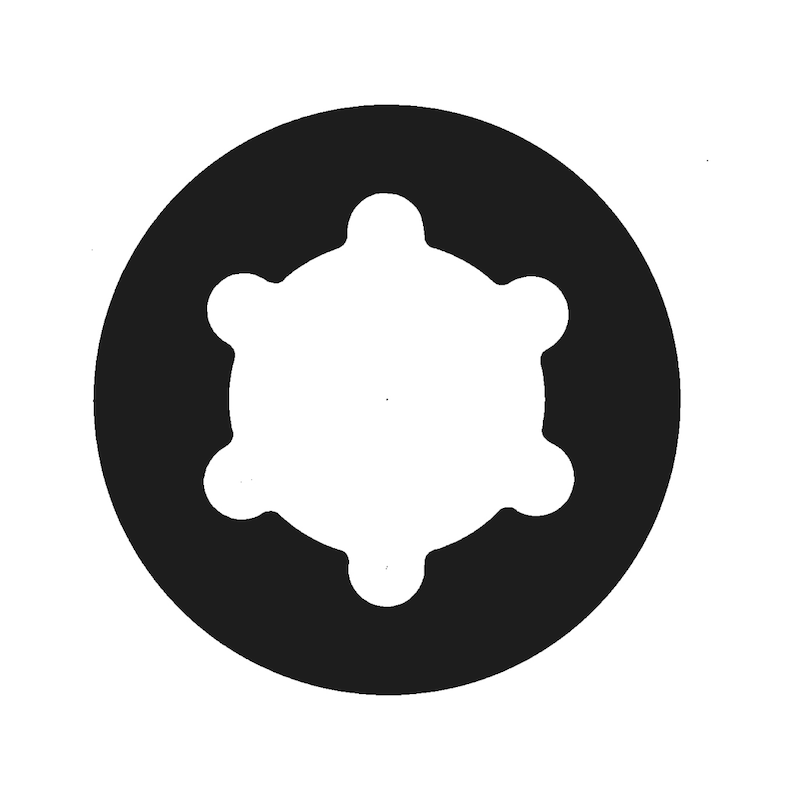 Bohrschraube Flachkopf mit AW-Antrieb und Minipoint pias<SUP>®</SUP> - SHR-BSP-LIKPF-AW25-A2-4,8X13